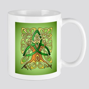 Celtic Art Trinity Tree Green Mugs